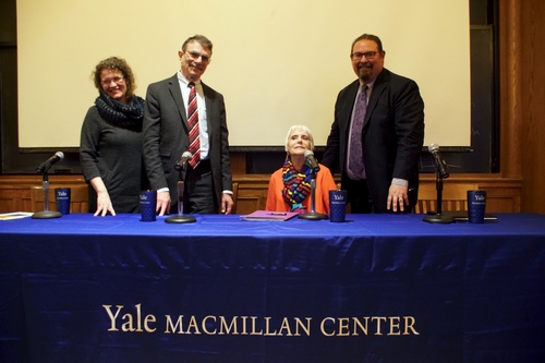 Karin Zipf, Bruce Berger, Susan King, and Ambassador Luis C. deBaca (ret.)