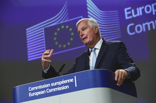 Michel Barnier, the EU's chief negotiator, speaking Friday after last week's round in the EU-UK negotiation.