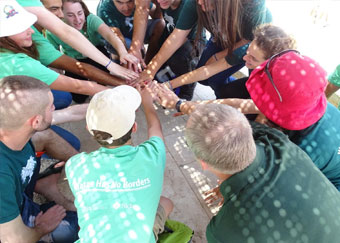 Cross-border partnering communities sharing a common water source, promoting environmental awareness & peace building. (photo credit: EcoPeace Middle East)