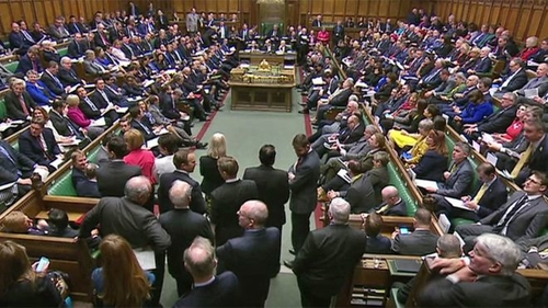 British House of Commons debating next steps in Brexit process, Feb. 14, 2019.