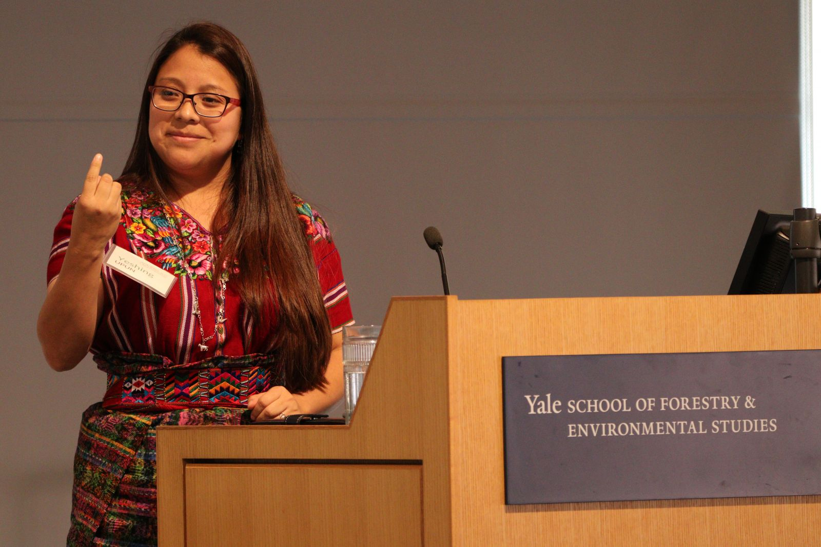 Yeshing Upun, a Mayan Kaqchikel woman from Guatemala, Lawyer and Coordinator at Sotzil, talked about initiatives that bring traditional knowledge and science together, to protect the collective rights of the Mayans for integral development, a model of development that includes their culture.