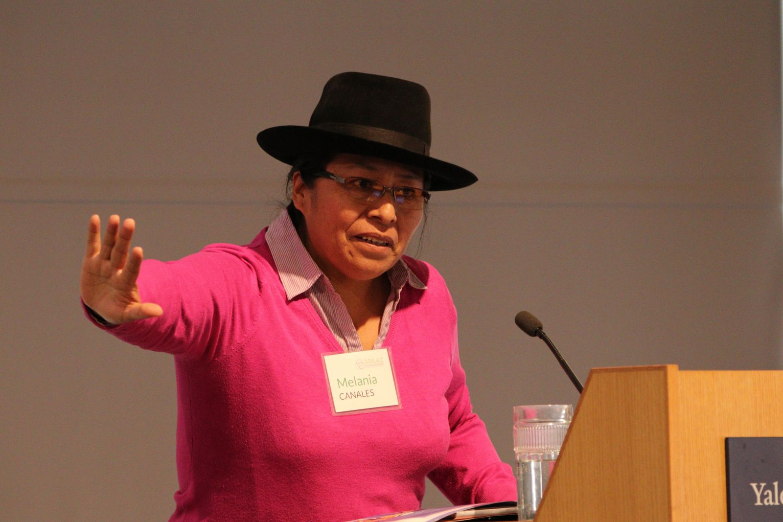 Melania Canales, Quechua Peruvian woman, Vice-President at ONAMIAP, shared lessons from her more than 20 years of experience working on capacity building, empowerment and female representation within indigenous communities.