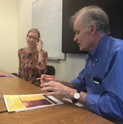 Anabelle Meier with Professor David Blight, Director of The Gilder Lehrman Center for the Study of Slavery, Resistance, and Abolition