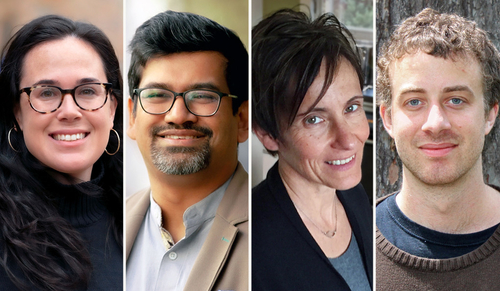 Left to right: Arielle Baskin-Sommers, Rohit De, Adriane Steinacker, and Stefan Steinerberger