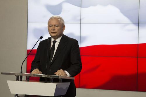 Jarosław Kaczyński, the leader of the Law and Justice Party (PiS), announcing that Poland will dissolve the Disciplinary Chamber of the Supreme Court, August 7.