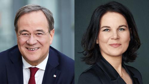 Armin Laschet, the CDU-CSU's chancellor candidate, and Annalena Baerbock, the Greens' chancellor candidate.
