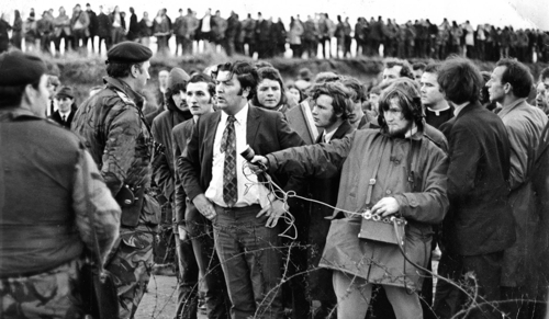 """A promotional still from """"In the Name of Peace: John Hume in America."""""""