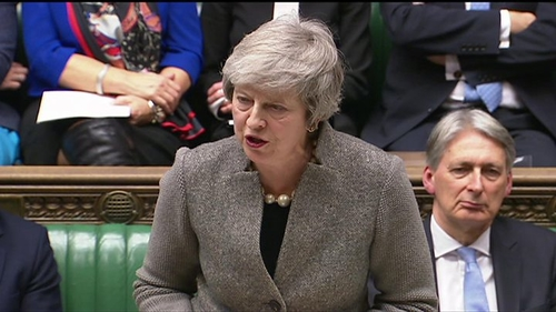 Theresa May reporting to the House of Commons Monday on the European Council meeting and the timing of the vote on the withdrawal agreement.