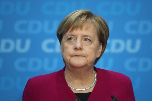 Angela Merkel announcing on Monday that she will step down as CDU leader in December.