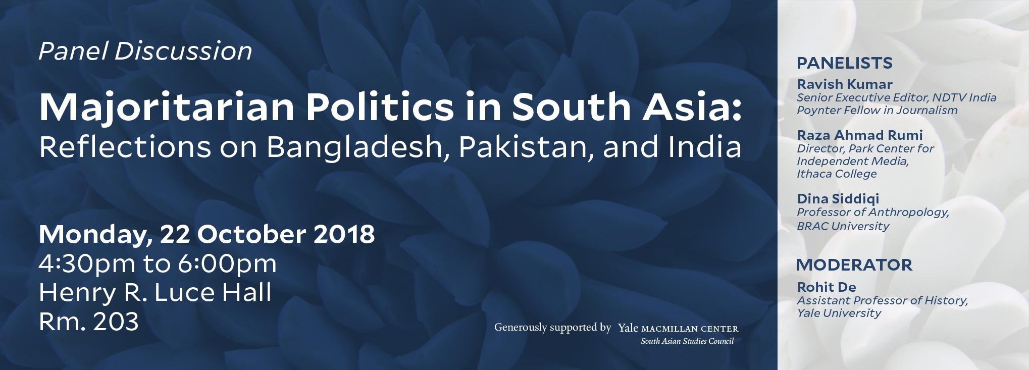 Majoritarian Politics in South Asia