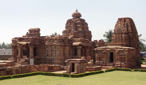 Two temples at Pattadakal in India.