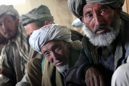 Hazara elders in Behsud.  (photo by Nasim Fekrat via Flickr Creative Commons)