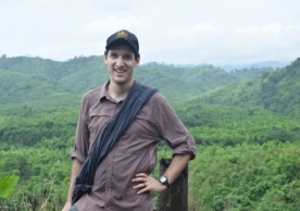 Jared Naimark, a Yale School of Forestry & Environmental Studies graduate student, in Myanmar.