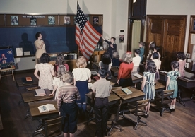 Disputes over history education quickly invoke curricula, and creep into school boards and state legislatures with increasing stakes. Photograph by Harold M. Lambert / Getty