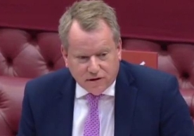 Lord David Frost presenting the government's Command Paper on the Northern Ireland Protocol to the House of Lords, July 21.