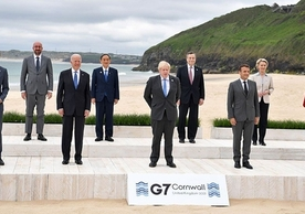 British Prime Minister Boris Johnson and the other G7 and EU leaders at Cornwall last weekend.