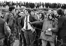 "A promotional still from ""In the Name of Peace: John Hume in America."""
