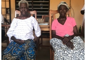 Some of my interviewees in Notsé, Togo: Left, Abla Vokuyibor (my Grandmother) Right, Ablagbue Vokuyibor (my Great Aunt) June 2019