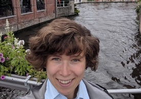 Mireille Pardon, Ph.D. Candidate, History Department, in Bruges, June 2019