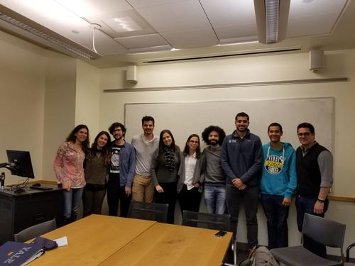 Some graduate students who attended Professor Schwarcz's presentation.
