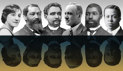 From left: Helen Hagan, George William Stanley Ish, John Edward West Thompson, Charles McLinn, Thomas Nelson Baker, and Jefferson G. Ish Jr.